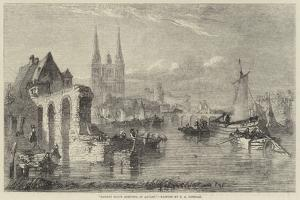 Market Boats Arriving at Angers by Edward Angelo Goodall