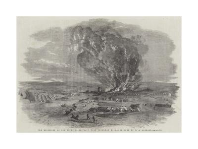 The Explosion of the Right Siege-Train, Near Inkerman Mill