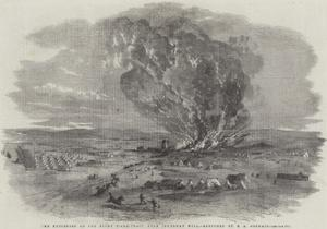 The Explosion of the Right Siege-Train, Near Inkerman Mill by Edward Angelo Goodall