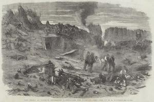 The Redan at Sunrise, 9 September, Removing the Wounded by Edward Angelo Goodall