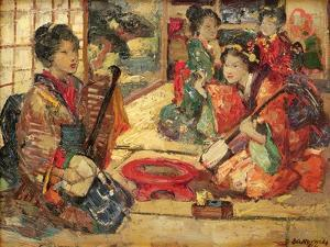 Geishas in an Interior, 1894 by Edward Atkinson Hornel