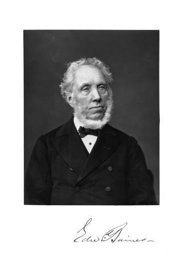 Edward Baines, English Newspaper-Proprietor and Politician--Giclee Print