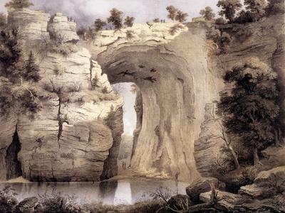 Natural Bridge, Rockbridge County, from 'Album of Virginia', 1858