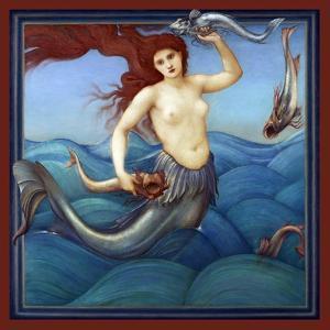 A Sea-Nymph by Edward Burne-Jones