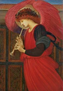 An Angel Playing a Flageolet by Edward Burne-Jones