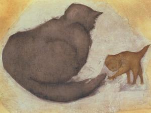 Cat and Kitten by Edward Burne-Jones