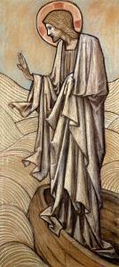Christ Stilling the Waves: a Design for Stained Glass at Brighouse, Yorkshire, 1896 by Edward Burne-Jones