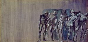 Courtiers Being Turned into Stone, from the 'Perseus' Series by Edward Burne-Jones
