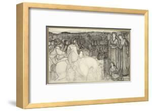Gualdrada Donati Presenting Her Daughter to Buondelmente (Pen and Black Ink with Graphite on White  by Edward Burne-Jones