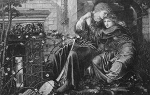 Love Among the Ruins, 1894, Engraved by M Dormoy by Edward Burne-Jones