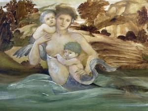 Mermaid With Her Offspring by Edward Burne-Jones