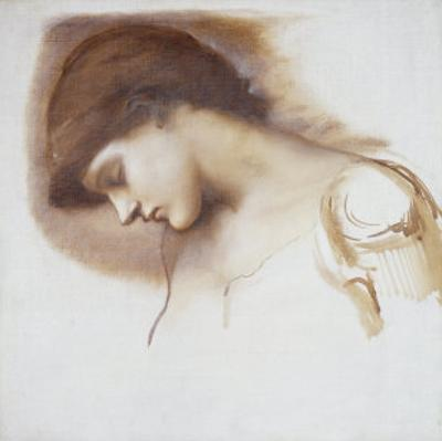 Musical Attendant, from Rose Bower Series by Edward Burne-Jones