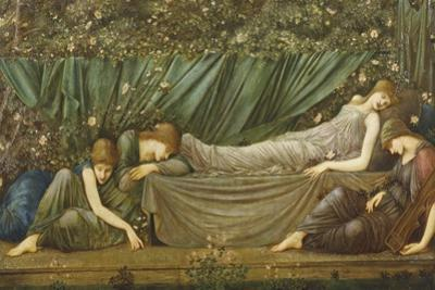 Sleeping Beauty, Illustration from 'The Legend of the Briar Rose', 1871-72 by Edward Burne-Jones