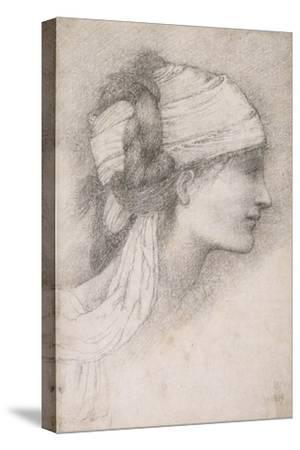 Study of a Female Head, to Right, 1889