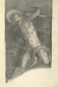 Study of Tintoretto's Saint Sebastian in the Scuola Grande Di San Rocco, 1859 or 1862 by Edward Burne-Jones
