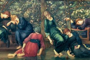 The Garden Court, from the Briar Rose Series, C.1894 by Edward Burne-Jones