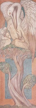 The Pelican, Cartoon for Stained Glass for the William Morris Company, 1880