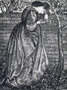 Young Woman Leaning Against a Wall by Edward Burne-Jones