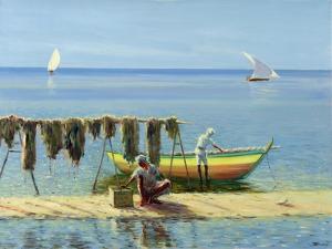 Drying Nets: Abu Dhabi by Edward Dawson