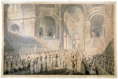Service of Thanksgiving in St Paul's Cathedral, City of London, 1789