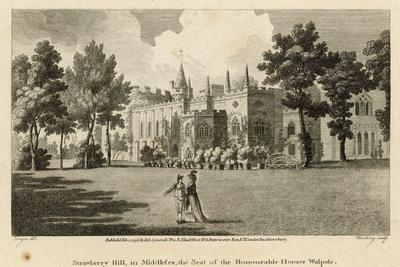 Strawberry Hill, Twickenham, London, the Seat of the Honourable Horace Walpole