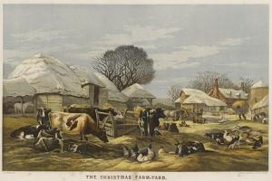 The Christmas Farm-Yard by Edward Duncan