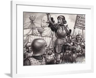 Edward, Earl of March, Landing at Ravenspur in 1471--Framed Giclee Print