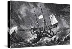 The Kraken, as Seen by the Eye of Imagination, from John Gibson's Monsters of the Sea, 1887 by Edward Etherington
