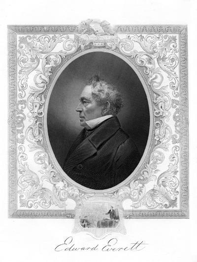 Edward Everett, American Whig Party Politician from Massachusetts, 1862-1867--Giclee Print