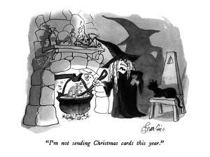 """""""I'm not sending Christmas cards this year."""" - New Yorker Cartoon by Edward Frascino"""