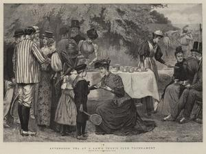 Afternoon Tea at a Lawn Tennis Club Tournament by Edward Frederick Brewtnall
