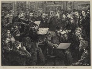 An Artists' Soiree, a Sketch at the Hogarth Club by Edward Frederick Brewtnall