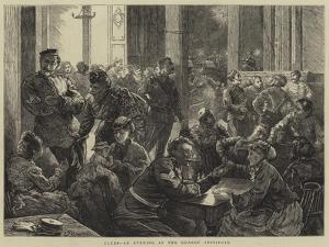 Clubs, an Evening at the Guards' Institute by Edward Frederick Brewtnall