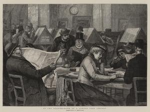 In the Reading-Room of a London Free Library by Edward Frederick Brewtnall