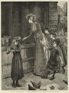 Little Londoners in the Country, Will They Bite, Teacher? by Edward Frederick Brewtnall