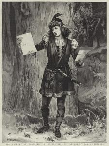 Mrs Langtry as Rosalind in As You Like It at the St James's Theatre by Edward Frederick Brewtnall