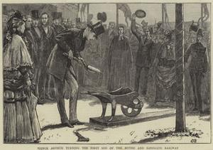 Prince Arthur Turning the First Sod of the Hythe and Sandgate Railway by Edward Frederick Brewtnall