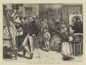 Students' Day at the South Kensington Museum by Edward Frederick Brewtnall