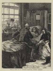 Visiting Day at St Thomas's Hospital, Surrey Gardens by Edward Frederick Brewtnall