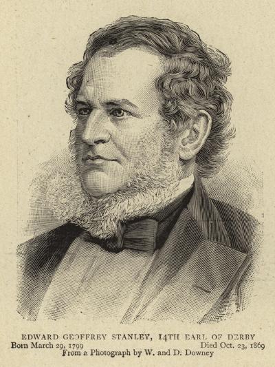 Edward Geoffrey Stanley, 14th Earl of Derby--Giclee Print