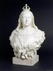 Bust of Queen Victoria in Marble, c.1888 by Edward Gleichen
