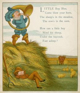Little Boy Blue, the Horn-Blower Stands on Top of the Haystack by Edward Hamilton Bell