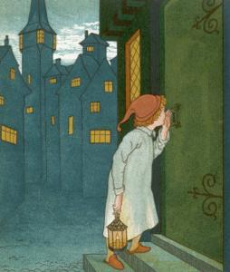 Wee Willie Winkie Runs Through the Town Upstairs and Downstairs in His Nightgown Rapping by Edward Hamilton Bell