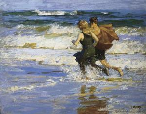 At The Beach by Edward Henry Potthast
