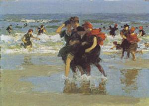At The Seaside by Edward Henry Potthast