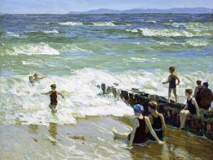 Bathers at Breakwater by Edward Henry Potthast
