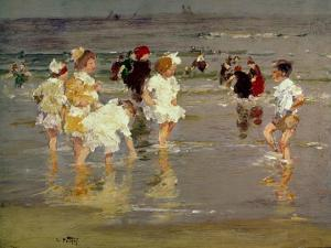 Children on the Beach by Edward Henry Potthast