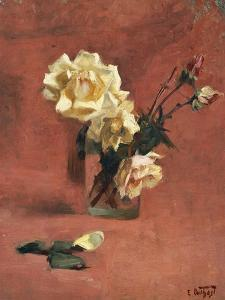 Still Life with Roses in a Glass by Edward Henry Potthast