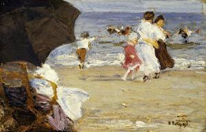 The Beach Umbrella by Edward Henry Potthast