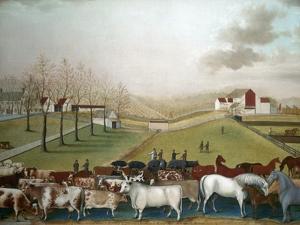 Hicks: Cornell Farm, 1848 by Edward Hicks